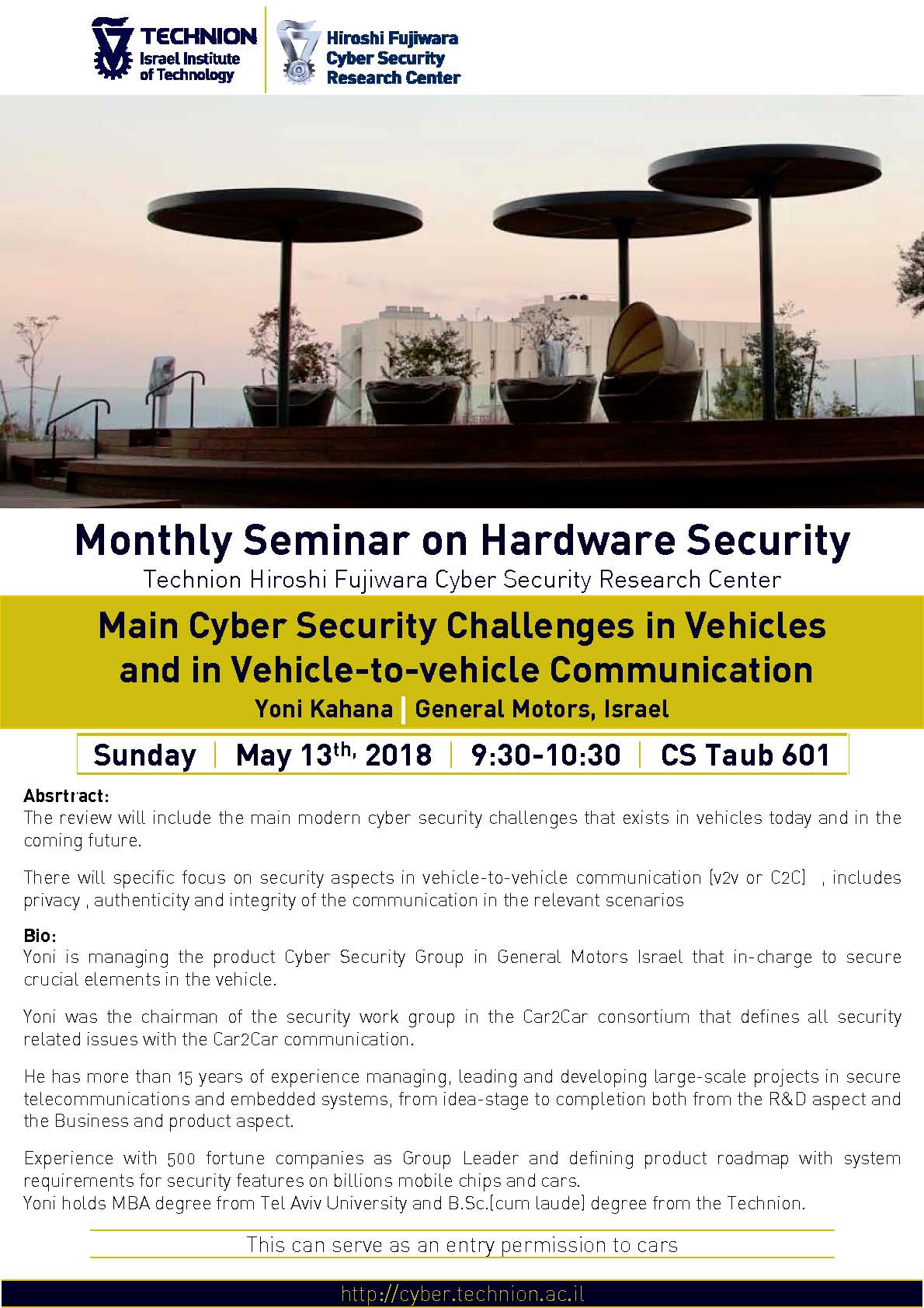 Poster Monthly Seminar on Hardware Security - 13.05.18